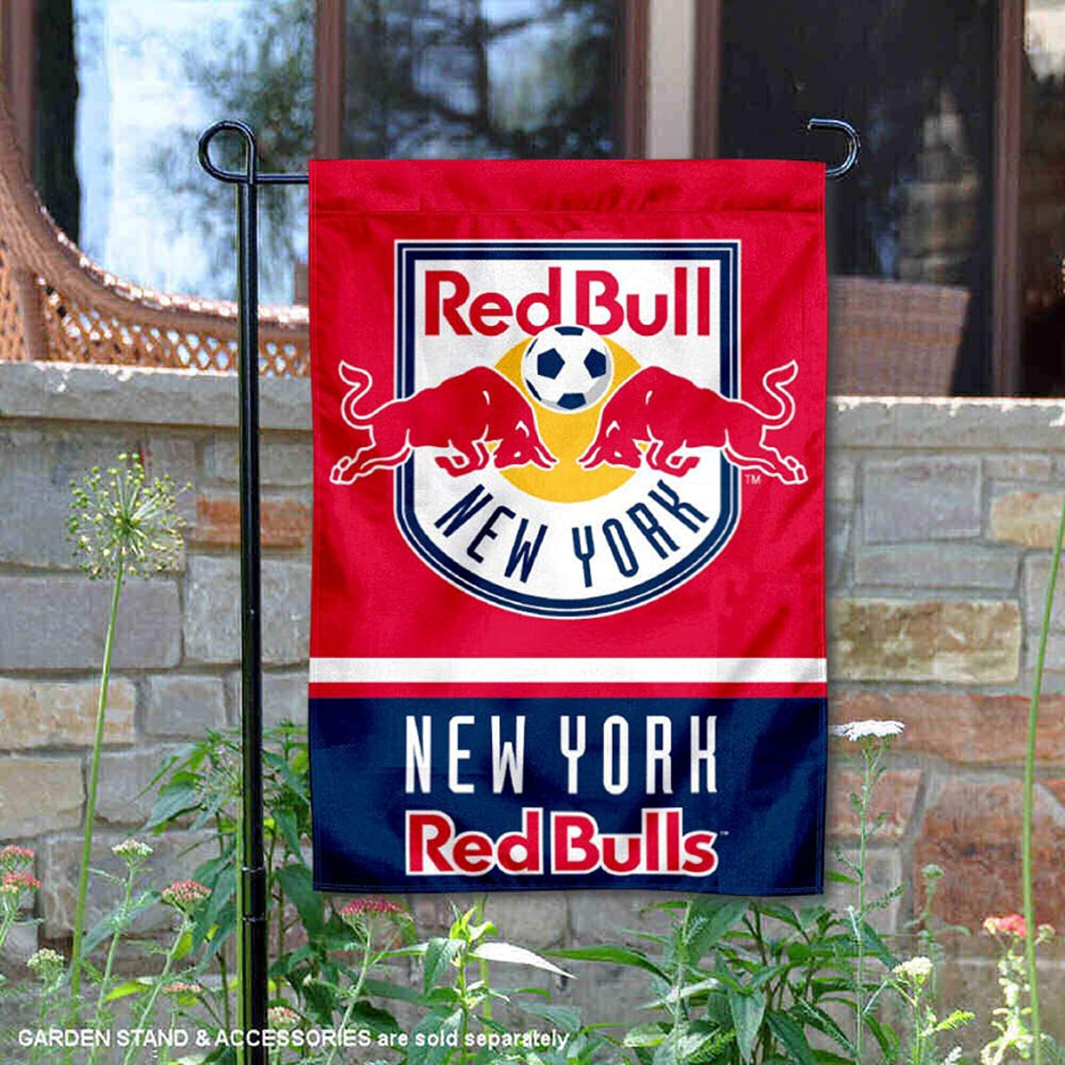 WinCraft New York Red Bull Double Sided Garden Flag
