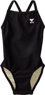 TYR Sport Girls' Solid Diamondback Swim Suit