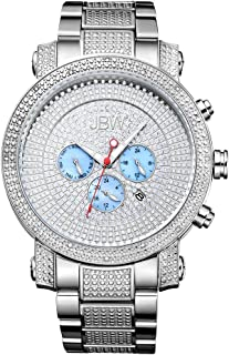 JBW Luxury Men's Victor 16 Diamonds Pave Dial Detail Chronograph Watch - JB-8102-B