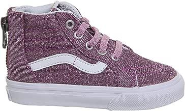 Vans Girl's SK8 Hi Zip Pink Glitter Toddler Trainer Boots 8.5 M US Little Kid Pink Glitter/True White