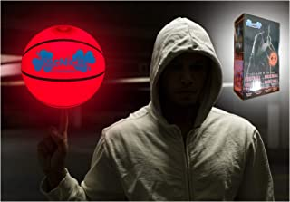 MCNICK & COMPANY LED Glow in The Dark Youth 28.5 Basketball - 100 Hour Battery Life - Light Up Basketball Air Pump Included