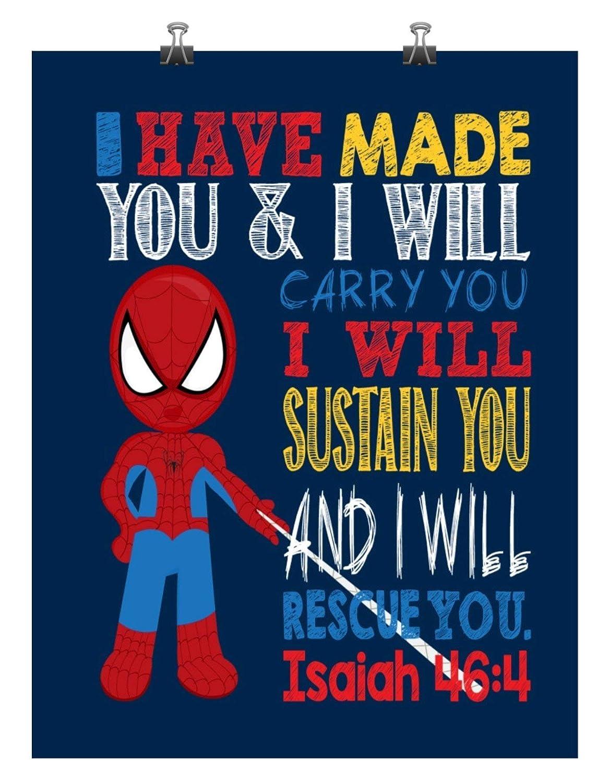 Spiderman Superhero Inspirational Nursery Decor Have Max 51% OFF Print Max 81% OFF - I M