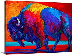 """Abstract Bison Canvas Wall Art Print, 24""""x18""""x1.25"""""""