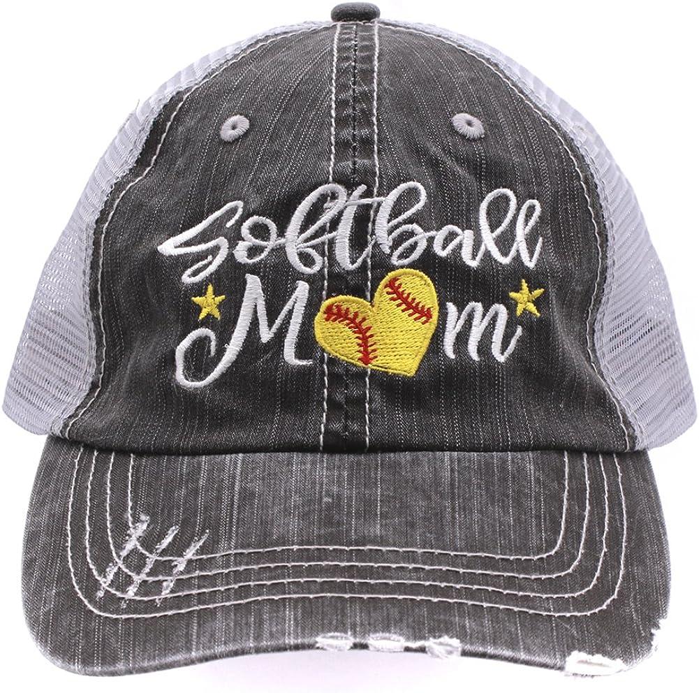Softball #Momlife Mom Love Heart Ranking TOP17 Trucker Embroidered Women Style New York Mall