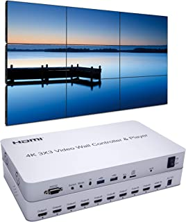 Expert Connect 3x3 Video Wall Controller with Media Player   1080p, HDMI 1.4, HDCP1.4 Compliant   1 HDMI Input & 9 Outputs...