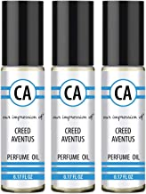 CA Perfume and Essential Oils 3 pcs Impression of Creed AVENTUS (More Than Cologne for Men) Travel Size (0.3 fl oz) x 3 Ro...