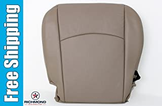 Richmond Auto Upholstery 2010 Dodge Ram 1500 Laramie Crew-Cab - Driver Side Perforated Bottom Replacement Leather Seat Cover: Tan