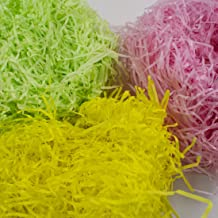 TRIXES Shredded Paper- 3 Colour- Yellow Pink and Green Easter Decoration and Crafting