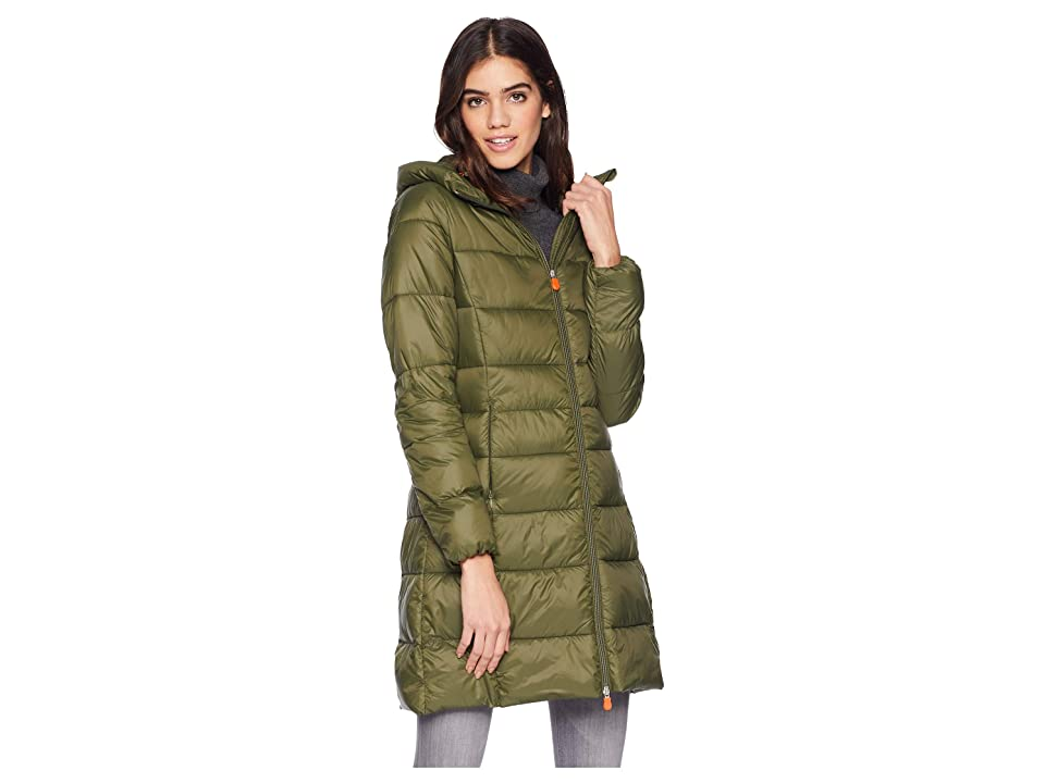 Save the Duck Long Hooded Basic (Dusty Olive) Women