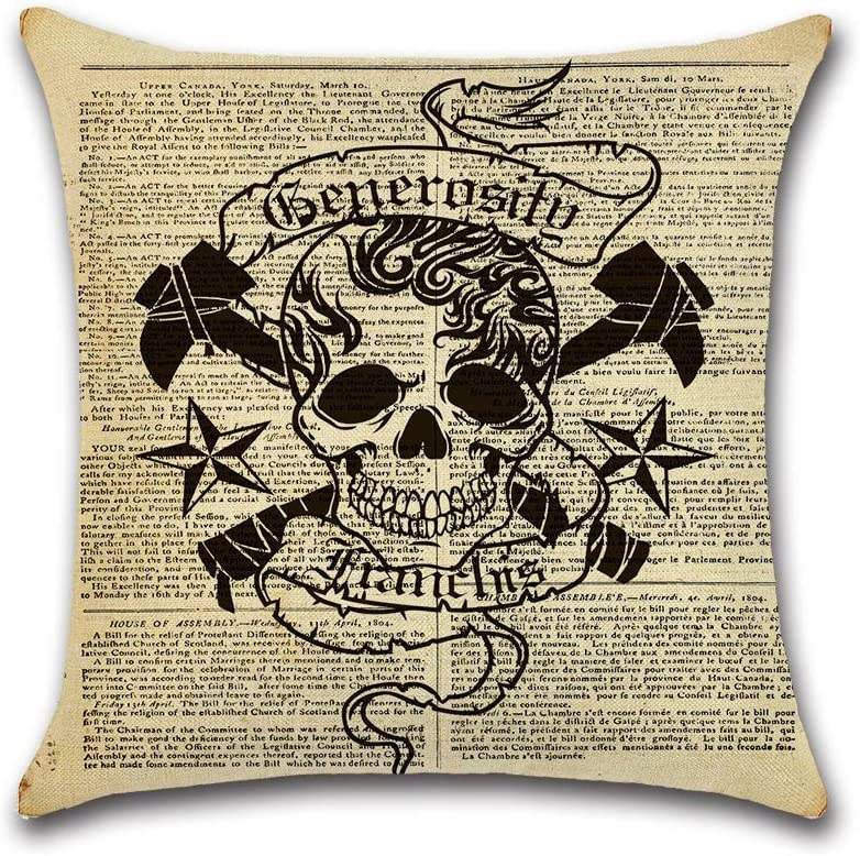 HXF- Cushion Cotton Max 90% OFF Comfortable Material Th Large special price Bone Fabric Vintage