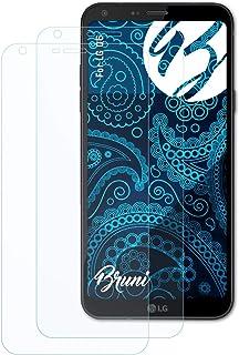 Bruni Skärmskydd är kompatibel med LG Q6 Film, kristallklart Skyddsfilm (2X)