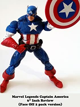 """Review: Marvel Legends Captain America 6"""" Inch Review (Face Off 2 pack version)"""
