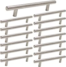 homdiy 5in Center to Center Cabinet Pulls Brushed Nickel 15 Pack Metal Cabinet Handles - HD201SN Cabinet Door Hardware Pulls Modern Drawer Pulls Brushed Nickel Drawer Handles for Dresser, Wardrobe