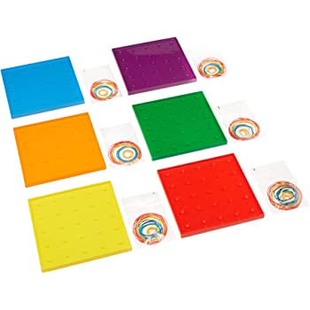 Didax Educational Resources Geoboard Group Set of 6
