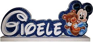 Scritta personalizzata in polistirolo tema baby topolino per tavolo torta