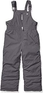 Carter's Girls' Little Snow Bib Ski Pants Snowsuit, Walrus Gray, 6X