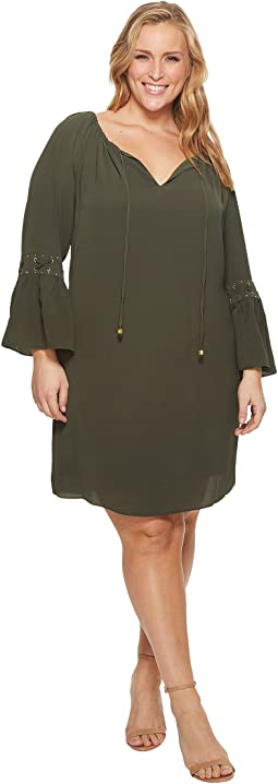 MICHAEL Michael Kors Plus Size Lace-Up Sleeve Dress