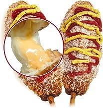 李さんの韓国チーズドッグ(チーズハットグ ) 10本セットW冷凍 (チーズドッグ5本+ダブルチーズハットグ5本)