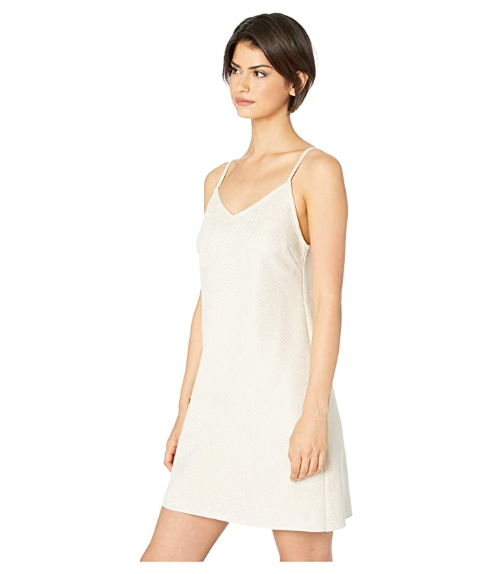 Bishop + Young Micro Stud Faux Suede Mini Dress (Ivory) Women