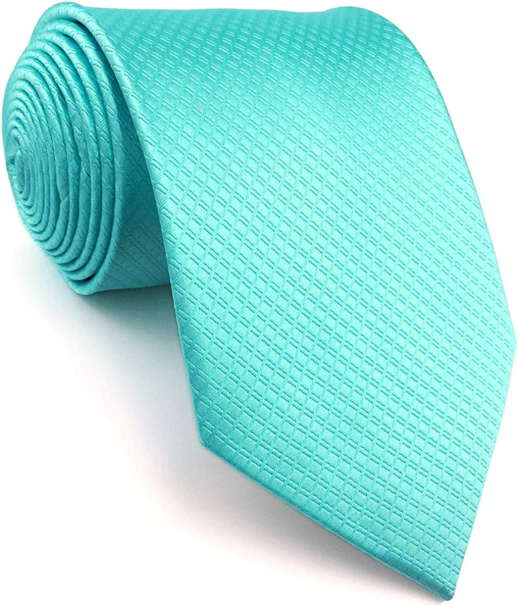 SW SHLAXWING Mens Max 61% OFF Tie Colours Colors Turquoise safety Solid Necktie