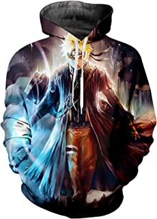 Unisex 3D Printed Lightweight Naruto Uzumaki Naruto Hoodie for Men Long Sleeve Hooded Pullover Cosplay Costume Breathable ...