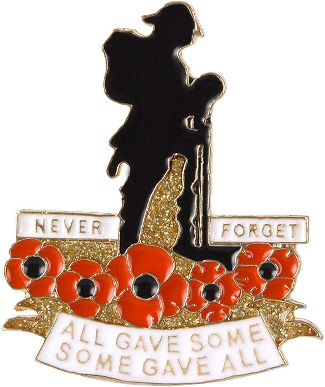 QIHOO Poppy Enamel Pins for Military Patri Chicago Mall Day Memorial Same day shipping Veterans