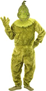 elope Dr. Seuss The Grinch Deluxe Jumpsuit Mens L/XL Green
