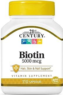 21st Century, Biotin, Super Potency, 5000 mcg, 110 Capsules