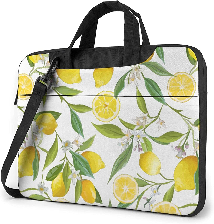 Yellow Lemon Printed Be super welcome Laptop Shoulder OFFicial shop Tablet Car Bag