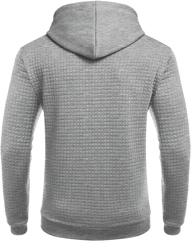Aayomet Mens Shirts Fashion Long Sleeve Plaid Round Neck Tee Sweatshirts Workout Sport Casual Hoodies