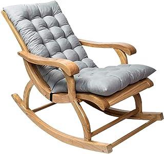 FCXBQ Cojines para sillas Cojín para salón, Antideslizante Cojines para mecedoras Almohada Suave Hogar Jardín Patio Cojines para Exteriores Cojines Estera Plegable 120x50CM, Sin Silla (Color: Gris
