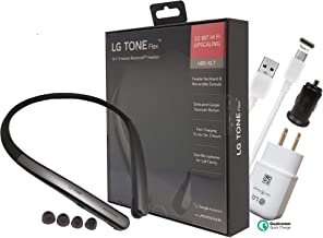 LG Tone Flex XL7 Bluetooth Wireless Stereo Headset HBS-XL7 - with Car/3.0 Fast Wall Charger 3.0 C Type USB (Retail Packing Kit)