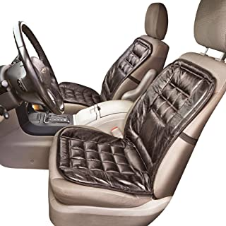 Stylish Comfortable Leather Elastic Strap Car Seat Cushion - Also Good for Office or Home, Black