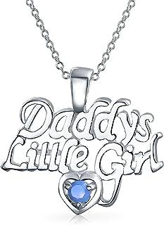 Daddys Bambina Inlay Blu Creato Opale Collana Pendente Per La Figlia Per Teen Argento 925 Ottobre Birthstone