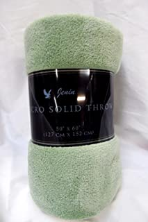 Gorgeous Home Small throw soft blanket Microplush Comfort Cozy fleece, 50 Inch x 60 inch, Sage Green