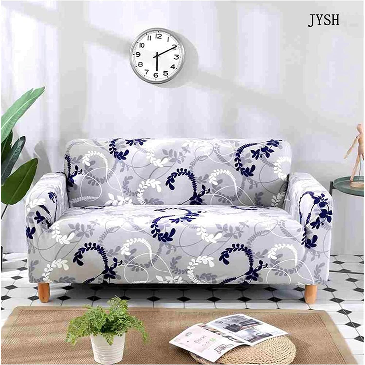 XIAOLI Couch Cover Sofa Covers Elastic Store Leaves and Flowers Rapid rise