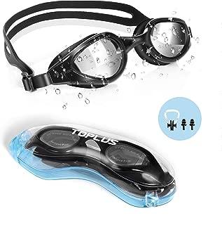 TOPLUS Swim Goggles, Goggles No Leaking Anti Fog UV...