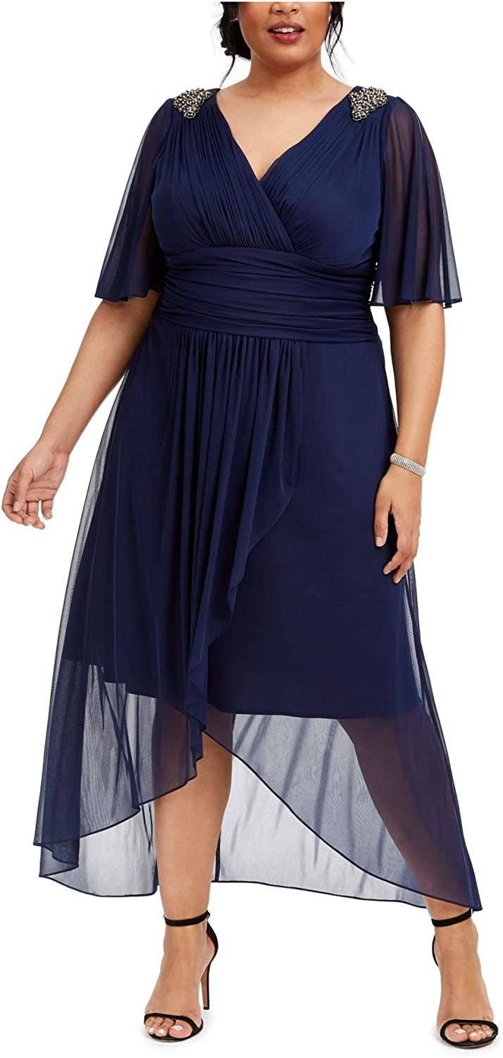 S.L. Fashions Women's Long Ruched Waist Animer and price Today's only revision Sleeve Dress with Detail