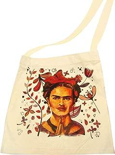 Original Canvas Frida Cotton Tote Market Bag Printed16 SQ inch Folk Art Mexico Pouch