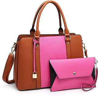 Women Handbags, Large Designer Lady Satchel Multi-Pockets Shoulder Bag Fashion Tote w/Wallet Set