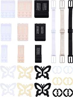 24 Pieces Bra Accessory Adjustable Bra Straps Non-Slip Bra Clips Bra Extenders for Women and Girls (Set 1)