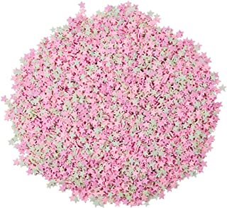 PH PandaHall 200g Pink Star Sweets Sugar Sprinkles Polymer Clay Cabochons Sprinkles for Decorations DIY Cake Dessert Scrapbook Phone Case