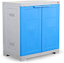 Cello Novelty Compact Shoe Rack (Blue and Grey)(25 x 24 x 15Inches), Capacity: 8