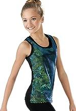 Balera Foil Tank Top Girls Hologram Foil for Dance Metallic Sleeveless Shirt