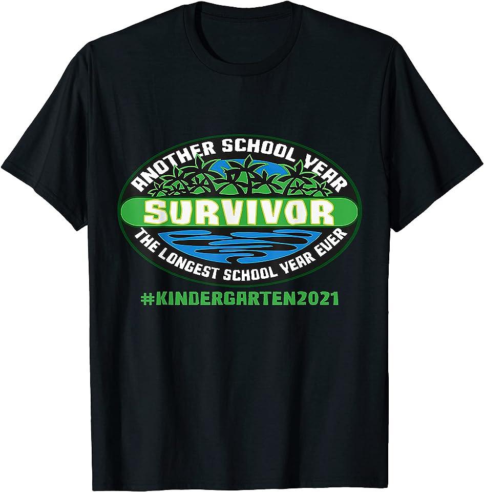 Kindergarten 2021 Another School Year Survivor The Longest T-Shirt