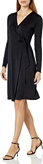 Lark & Ro Amazon Brand Women's Signature Long Sleeve Wrap Dress