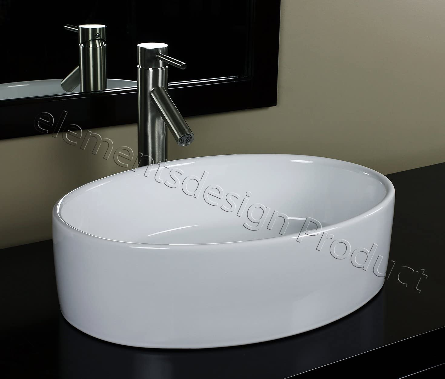 Bathroom Ceramic Vessel Max 72% OFF Sink 7151L1 Max 84% OFF With Nickel Faucet Brushed