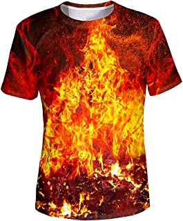 Unisex 3D Graphic T-Shirt Colorful Design Short Sleeve Crewneck Digital Tee for Young