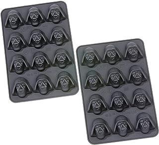 Star Wars 20561 - Juego de 2 moldes para Cubitos de Hielo o bombonas, diseño de Darth Vader