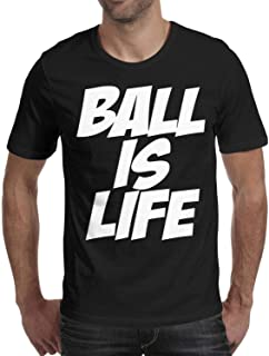 ZWEN Men's Ball is Life Novelty Cotton Shirt